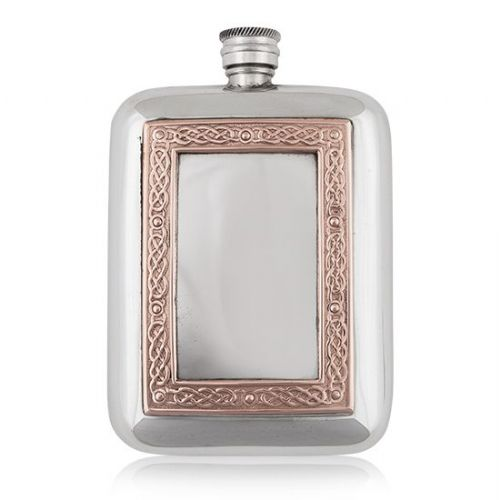 6oz Luxury Hip Flask with Copper Frame